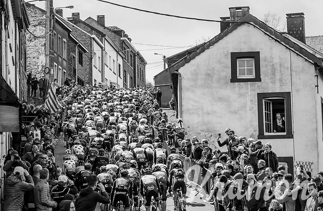 peloton up the iconic C&ocirc;te de Saint-Roch / Houffalize<br /> <br /> 103rd Li&egrave;ge-Bastogne-Li&egrave;ge 2017 (1.UWT)<br /> One Day Race: Li&egrave;ge &rsaquo; Ans (258km)