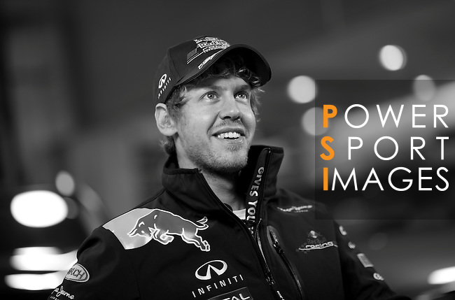 Formula One World Champion Sebastian Vettel puts Infiniti road cars through their paces ahead of the Chinese Grand Prix in Shanghai on 13th April 2011. Photo by Victor Fraile / The Power of Sport Images for Infiniti