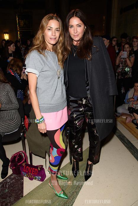 Yasmin Le Bon & Lisa Snowdon at the Pam Hogg show during London Fashion Week AW18, at the Freemasons' Hall in London, UK. <br /> 16 February  2018<br /> Picture: Steve Vas/Featureflash/SilverHub 0208 004 5359 sales@silverhubmedia.com