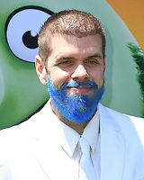 """10 August 2019 - Westwood, California - Perez Hilton. Sony's """"The Angry Birds Movie 2"""" Los Angeles Premiere held at Regency Village Theater.   <br /> CAP/ADM/BT<br /> ©BT/ADM/Capital Pictures"""