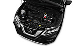 Car stock 2019 Nissan X-Trail Tekna 5 Door SUV engine high angle detail view
