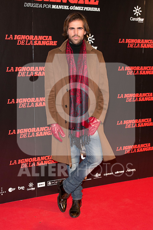 "Angel Caballero attends ""La Ignorancia de la Sangre"" Premiere at Capitol Cinema in Madrid, Spain. November 13, 2014. (ALTERPHOTOS/Carlos Dafonte)"
