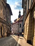 Krakow 2019-07-20. Ulica św. Tomasza w Krakowie.