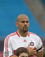 Chicago Fire defender C.J. Brown (2). The New England Revolution out scored the Chicago Fire, 2-1, in Game 1 of the Eastern Conference Semifinal Series at Gillette Stadium on November 1, 2009.