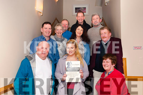 "The Zyber Theatre Company were in rehearsal at Kerins O'Rahillys GAA Club on Friday night in preparation for their upcoming production of John Fraher's hilarious comedy ""What Time is it in Bangkok?"". The show will run in Tralee's Siamsa Tire Theatre on the 1st, 2nd and 3rd of February at 8pm. (Front L-R) John Patton, Maeve Burke and Aileen Fuller, (Middle L-R) Raphael Crowley, Marian Collins, Mags Slattery and author John Fraher. (Back L-R) Noel King, George Lowe and Ken Quillinan."