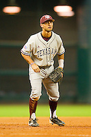 Third baseman Andrew Collazo #6 of the Texas A&M Aggies on defense against the Houston Cougars at Minute Maid Park on March 6, 2011 in Houston, Texas.  Photo by Brian Westerholt / Four Seam Images