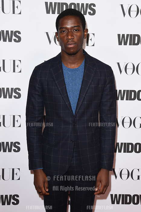 LONDON, UK. October 31, 2018: Damson Idris at the &quot;Widows&quot; special screening in association with Vogue at the Tate Modern, London.<br /> Picture: Steve Vas/Featureflash
