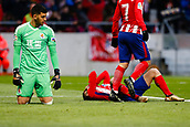 2nd December 2017, Wanda Metropolitano, Madrid, Spain; La Liga football, Atletico Madrid versus Real Sociedad; Angel Martin Correa (11) of Atletico Madrid and Geronimo Rulli (1) of Real Sociedad