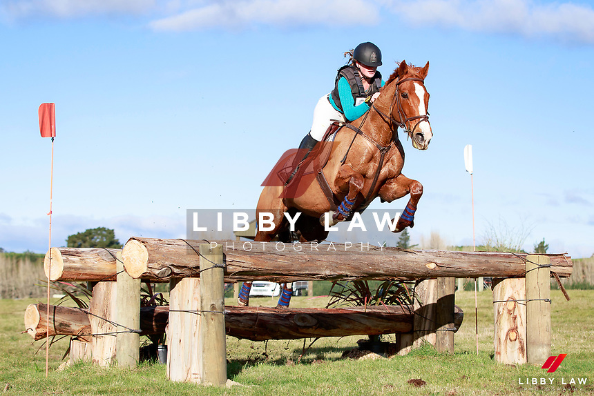 Eloise King rides Schevchenko to keep the lead during the Equissage CCN105 Open Cross Country at the 2017 NZL-NRM National Three Day Event Championships. National Equestrian Center, Taupo. Saturday 13 May. Copyright Photo: Libby Law Photography