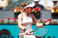 Simona Halep, Romania, during Madrid Open Tennis 2018 match. May 9, 2018.(ALTERPHOTOS/Acero) /NortePhoto.com