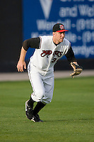 Left fielder Todd Frazier #30 of the Carolina Mudcats charges after a base hit at Five County Stadium May 18, 2009 in Zebulon, North Carolina. (Photo by Brian Westerholt / Four Seam Images)