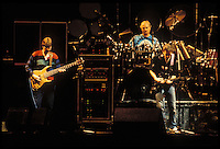 The Grateful Dead perfoming Picasso Moon at the Nassau Coliseum, Uniondale NY, 30 March 1990. Phil Lesh, Bill Kreutzmann and Bob Weir.