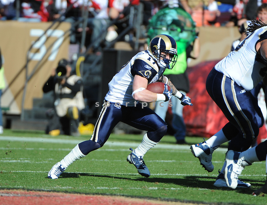 NICK MILLER, of the St. Louis Rams, in action during the Rams game against the San Francisco 49ers on December 4, 2011 at Candlestick Park in San Francisco, CA. The 49ers beat the Rams 26-0.