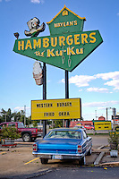 Waylan's Ku-Ku Burger is the last of a chain from the 1960's and a landmark on Route 66 in Miami Oklahoma.