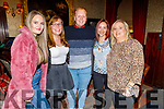 Leisure staff from the Manor West Hotel enjoying their party in the Grand Hotel on Sunday<br /> L to r: Clare Lee, Jessica Dean, Padraig O'Mahoney, Christina Popescu and Marie O'Mahoney.