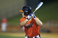 Jake McCarthy (31) of the Virginia Cavaliers at bat against the Wake Forest Demon Deacons at David F. Couch Ballpark on May 18, 2018 in  Winston-Salem, North Carolina.  The Cavaliers defeated the Demon Deacons 15-3.  (Brian Westerholt/Four Seam Images)