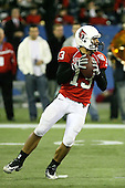 January 5th, 2008:  Ball State quarterback Nate Davis (13) drops back to pass during the fourth quarter of the International Bowl at the Rogers Centre in Toronto, Ontario Canada...Rutgers defeated Ball State 52-30.  ..Photo By:  Mike Janes Photography