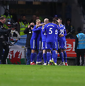 2nd February 2019, Cardiff City Stadium, Cardiff, Wales; EPL Premier League football, Cardiff City versus AFC Bournemouth; Cardiff City players celebrate after Bobby Reid's second goal in the 46th minute makes it 2-0