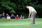 Justin Rose putts on the 16th hole in the third round of the BMW PGA Championship on the 26th of May 2007 at the Wentworth Golf Club, Surrey, England. (Photo by Manus O'Reilly/NEWSFILE)