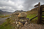 The road from Blea Tarn to the Langdales, Lake District, Cumbria, UK
