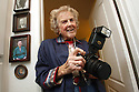Marvin Trotter, 84, at her Wildomar, California home in November of 2009, with her Canon Rebel 35mm film camera which she used to take many of the photos in her book, The Plants of the Santa Rosa Plateau Ecological Reserve.  photo for The Californian