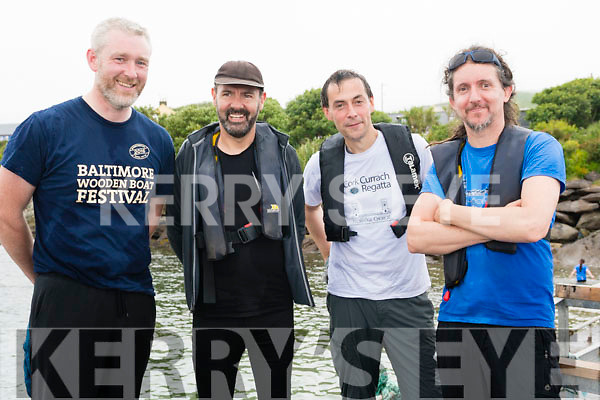 Ray O'Leary, Alan Murphy, Martin Schwedes and Ger Boldwin after competing in the Regatta Fionn Trá, Ventry, on Sunday afternoon.