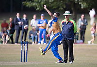 Bowling action during Upminster CC vs Essex CCC, Benefit Match Cricket at Upminster Park on 8th September 2019