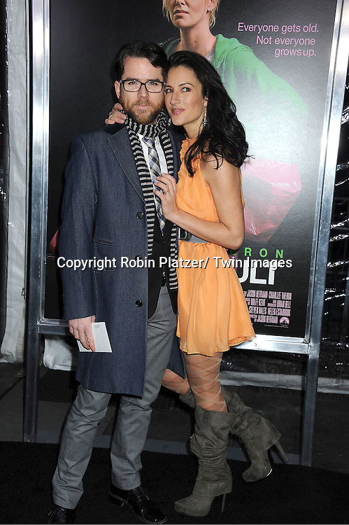 "Christian Campbell and wife America Olivo attends The World Premiere of "" Young Adult"" on ..December 8, 2011 at The Ziegfeld Theatre in New York City."