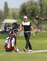 Simon Thornton (IRL) on the 1st tee during Round 1 of the Challenge de Madrid, a Challenge  Tour event in El Encin Golf Club, Madrid on Wednesday 22nd April 2015.<br /> Picture:  Thos Caffrey / www.golffile.ie