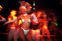 Dancers perform at the Las Vegas-style nightclub which seems like an informal poor man's Tropicana. Often there is standing room only while a few early arrivals guard seats at tables crammed around a small dance floor. During some numbers, members of the audience are invited to participate and dance with the scantily clad women.