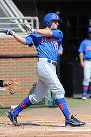 Florida Gators first baseman Taylor Gushue #17 swings at a pitch during a game against the Tennessee Volunteers at Lindsey Nelson Stadium, Knoxville, Tennessee April 14, 2012. The Volunteers won the game 5-4  (Tony Farlow/Four Seam Images)..