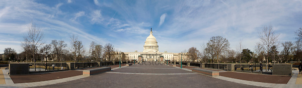 US Capitol Washington DC<br /> <br /> The United States Capitol building is located on Capitol Hill at the East end of the National Mall in Washington D.C.. The US Capitol building is among the most symbolically important and architecturally impressive buildings in the United States. It has housed the meeting chambers of the House of Representatives and the Senate for two centuries. An example of 19th-century neoclassical architecture. Architectural details include, columns, porticos, arches, steps, the capitol dome, rotunda. A Washington DC landmark and national icon it is a popular tourist attraction and travel destination in Washington DC.