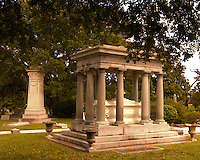Many of the Magnolia Cemetery grave sites are of well known citizens of the Low Country including wealthy plantation owners, politicians and military figures. This particular tomb is in one of the better kept cemetery areas and offers a superior view of the area. Too bad the deceased can't enjoy it.