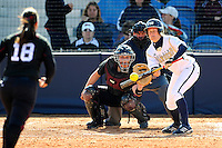 13 February 2010:  FIU's Morgan Huling (3) bunts as the FIU Golden Panthers defeated the Southern Illinois Salukis, 10-6, at the University Park Stadium in Miami, Florida.