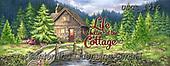Dona Gelsinger, LANDSCAPES, LANDSCHAFTEN, PAISAJES, paintings+++++,USGE1916,#l#, EVERYDAY,cottage