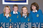 Students from Mercy Mounthawk School, Tralee  Laura Fitzgerald, Kynan Delaney, Cara Enright and Conor Higgins pictured at the Kerry Science Teachers Association Junior Cert Science Quiz at IT Tralee south campus on Wednesday the 25th March.