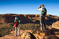 Tourists on the rim of King's Canyon, Red Centre, Northern Territory, Australia