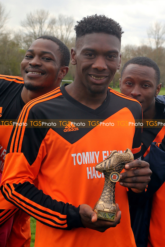 man of the match, Tommy Flynns (Orange) vs Wojak Sunday, Hackney & Leyton Sunday League Jack Walpole Cup Final Football at Hackney Marshes on 24th April 2016