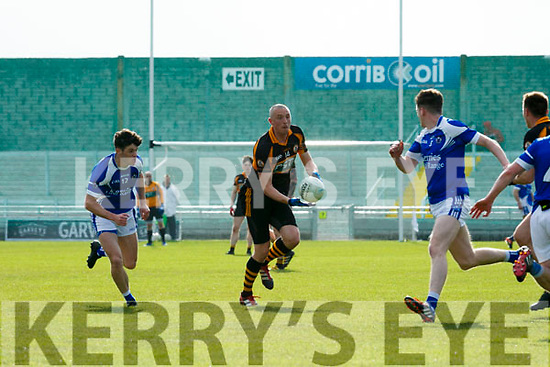 Stacks Kieran Donaghy gets away from O'Rahilly's Rory Molloy at the Senior Football Championship Relegation playoff Round1 Austin Stacks V Kerins O'Rahillys at Austin Stack Park on Sunday