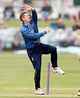 Joe Denly bowls for Kent during the Royal London One Day Cup game between Kent and Glamorgan at the St Lawrence Ground, Canterbury, on May 25, 2018