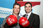 Graham Hughes and Senator James Carroll at the Launch of the White Collar Boxing Event...Picture Jenny Matthews/Newsfile.ie