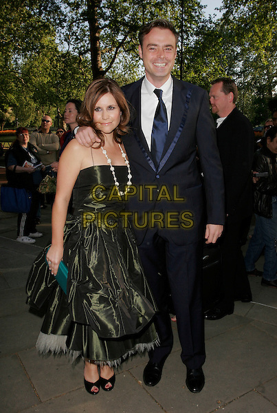HARRIET SCOTT & JAMIE THEAKSTON.Attending the Sony Radio Academy Awards, Grosvenor House Hotel, London, England, April 30th 2007..full length green prom dress navy blue suit tie.CAP/AH.©Adam Houghton/Capital Pictures.