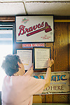 Sara Wright is 88-years-old, and owns a baseball card shop in Cornelia, Georgia. She hangs a list of the &quot;10 Commandments of Good Communication&quot; next to a list of The Ten Commandments near the doorway of her North Georgia shop.<br /> <br /> She opened the shop in 1990 and though she said baseball card collectors have largely been replaced by Magic card collectors, she still opens her shop every week. &quot;I tell ya, it's harder to get out of business than it is to get in business,&quot; she said in her shop June 22, 2013.<br /> <br /> She has a photo of her great grandson, a pitcher named Taylor Wright on display amongst the boxes of cards for sale.