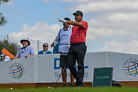 Jhonattan Vegas (VEN) looks over his tee shot on 3 during day 2 of the World Golf Championships, Dell Match Play, Austin Country Club, Austin, Texas. 3/22/2018.<br /> Picture: Golffile | Ken Murray<br /> <br /> <br /> All photo usage must carry mandatory copyright credit (&copy; Golffile | Ken Murray)