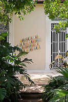 """Another version of Aquiles """"Infinite"""" graces an exterior wall of the villa"""