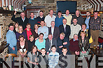 Tom O' Shea, from Mountain View, Killorglin, seated centre celebrated his retirement from Klinge with his family and work colleagues in The Fishery Bar and Restaurant Killorglin on Friday evening.   Copyright Kerry's Eye 2008
