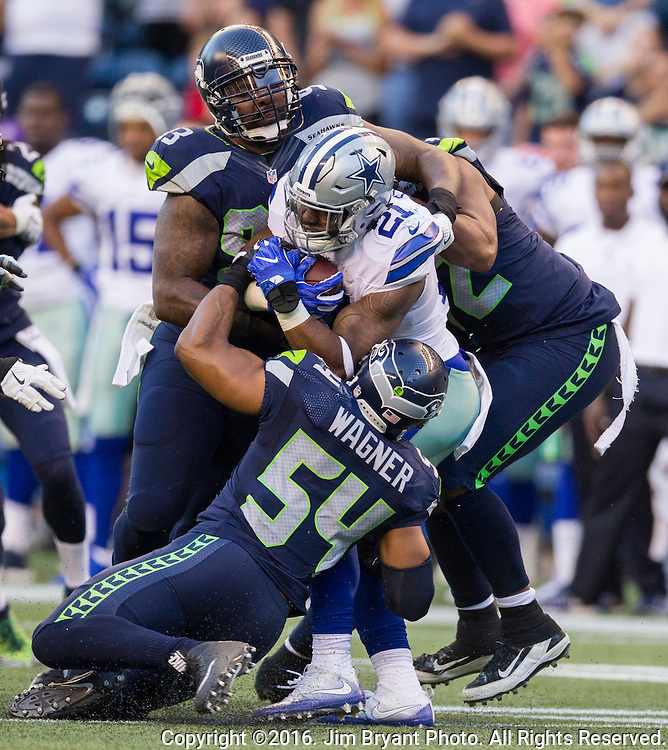 Seattle Seahawks' Dallas Cowboys'  at CenturyLink Field in Seattle, Washington on August 25, 2016.  The Seahawks beat the Cowboys 27-17.   © 2016. Jim Bryant Photo. All Rights Reserved.