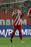 Borja Garcia of Girona celebrates scoring the fourth goal during Girona FC vs Tottenham Hotspur, Friendly Match Football at Estadi Montilivi on 4th August 2018