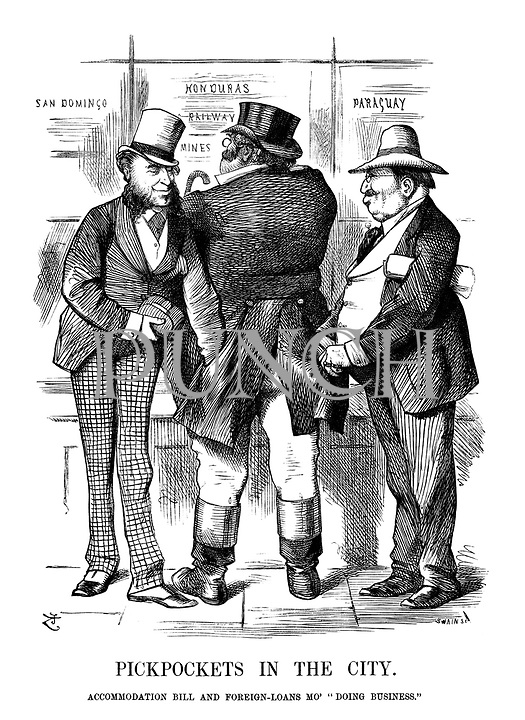"""Pickpockets in the City. Accommodation Bill and Foreign-Loans Mo' """"Doing Business."""""""