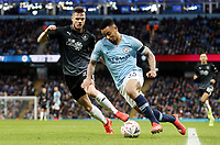 Manchester City's Gabriel Jesus beats Burnley's Kevin Long on his way to scoring the opening goal <br /> <br /> Photographer Rich Linley/CameraSport<br /> <br /> Emirates FA Cup Fourth Round - Manchester City v Burnley - Saturday 26th January 2019 - The Etihad - Manchester<br />  <br /> World Copyright © 2019 CameraSport. All rights reserved. 43 Linden Ave. Countesthorpe. Leicester. England. LE8 5PG - Tel: +44 (0) 116 277 4147 - admin@camerasport.com - www.camerasport.com